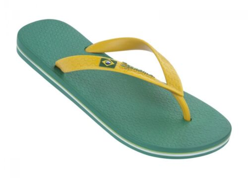 Limited Stock Sandals Green  UK 6 Ipanema Brazil Flag II Mens Flip Flops