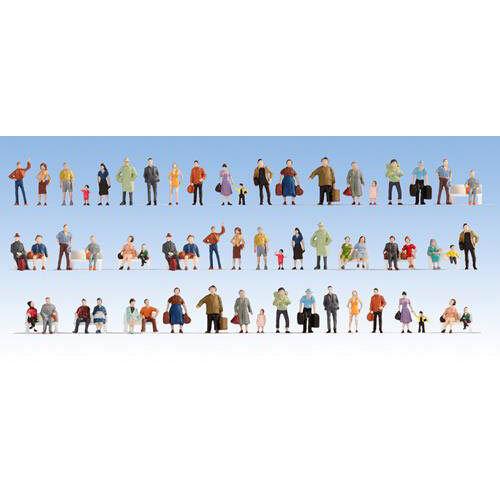 NOCH People (60) Mega Economy Hobby Figura Set HO Gauge Scenics 18401