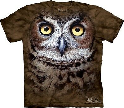 Great Horned Owl Head by The Mountain Company.Big Face Bird Sizes S-5XL NEW