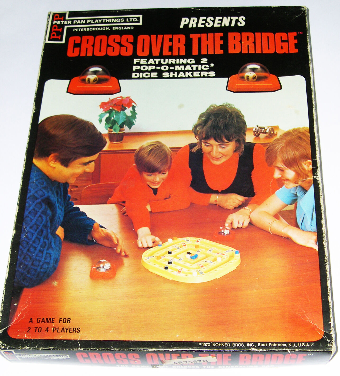 Cross Over The Bridge Game - (vintage Kohner) made by Peter Pan Playthings -1970