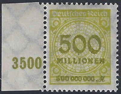 Sammlung Hier Korbdeckel Minr 324ap Vom Linken Rand Mit Handbuchplattenfehler Pe7 Postfrisch 1919-1923 Deutsches Reich