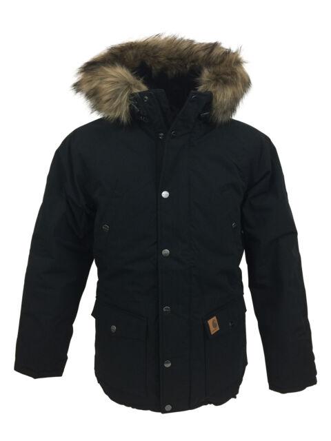 Carhartt IO21869 Mens Trapper Parka Jacket in Black S,M,L,XL,XXL RRP £245,BNWT