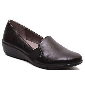 e57e44a3e88 Women s LifeStride ISABELLE E3472S3003 Black Slip On Low Wedge Heel ...