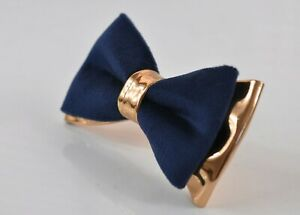Navy-Blue-Velvet-Rose-Gold-Faux-Leather-Bow-tie-for-Men-Youth-Boy-Baby