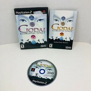 GoDai-Elemental-Force-Sony-PlayStation-2-PS2-Video-Game-Complete-With-Manual