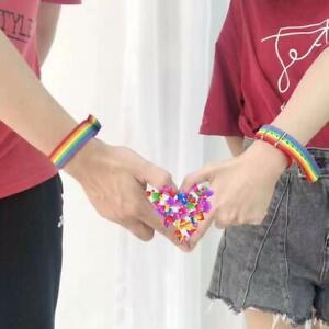 Minimalistischer-Regenbogen-Lesben-Armband-Weben-Paar-Freundschaftsarmband