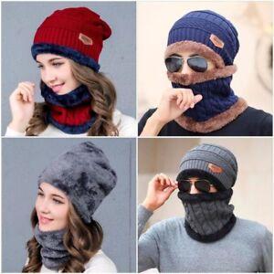 Men's Gloves & Mittens Clothes, Shoes & Accessories 3in1 Mens Women Winter Neckerchief Gloves Set Warm Knitted Hat Beanies Cap Scarf