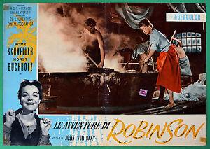 T48 Fotobusta die Abenteuer Von Robinson Romy Schneider Horst Buchholz Baku 5