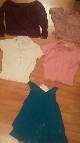 Ladies lot tops sheer shirt, sweater George Top sz