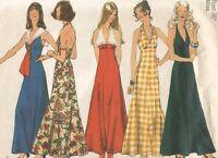 5349 Simplicity Sewing Pattern Halter Dress Size 14 36B Vintage 1970s Boho