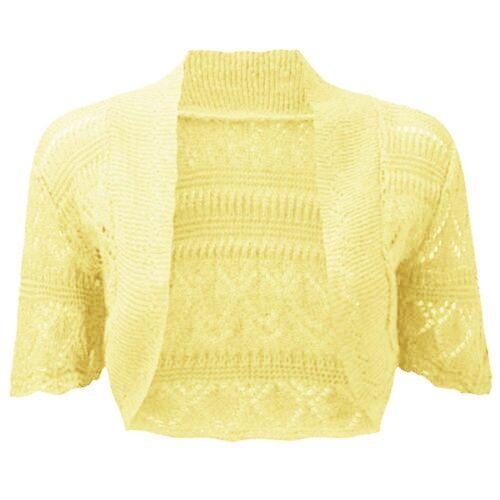 Filles Crochet Bolero Shrug Enfants Tricot à Manches Courtes Cardigan New Age 2-13 Ans