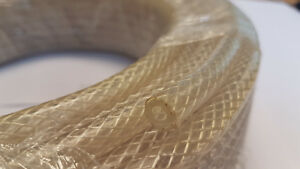 CLEAR BRAIDED FLEXIBLE PVC WATER / AIR HOSE PIPE - HEAVY DUTY TEXTILE REINFORCED