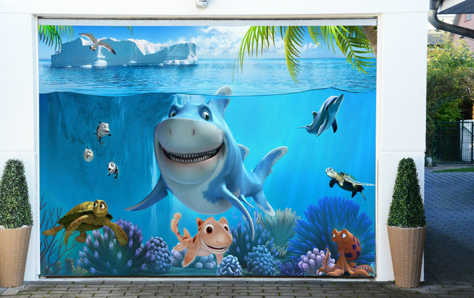 3D Beau Poisson 43 Garage Door Murals Wall Print Decal Wall Deco AJ WALLPAPER FR