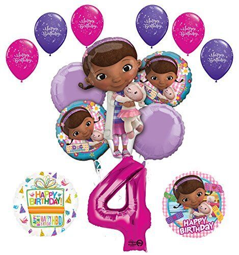 Doc McStuffins 4th Birthday Party Supplies And Balloon Bouquet Decorations For Sale Online