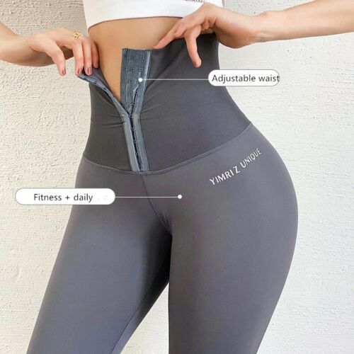 Women High Waist Leggings Tummy Control Fitness Sports yoga pants Corset Slim