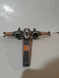 Star-Wars-Force-Awakens-Poe-039-s-X-Wing-Fighter-w-Poe-Dameron-3-75-034-Figure