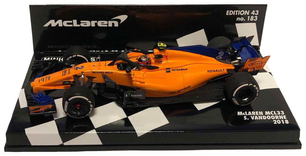 Minichamps McLaren MCL33  2 2018-STOFFEL Vandoorne échelle 1 43