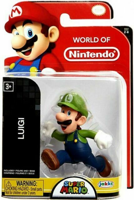 "Super Mario 5/"" Action Figure-Luigi-New /& Sealed"