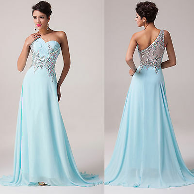~XMAS BEADED~ Evening Formal Party Ball Gown Prom Bridesmaid Long Wedding Dress