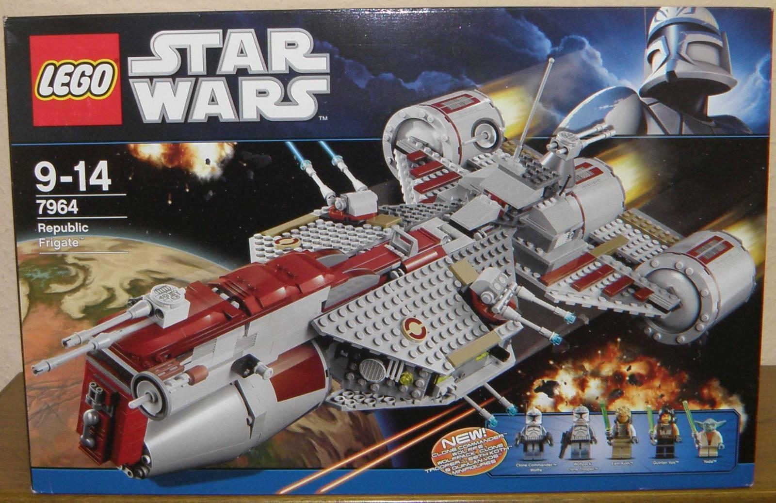 Lego Star Wars 7964 Republic frigate con figuras instrucciones y OVP 100% completo