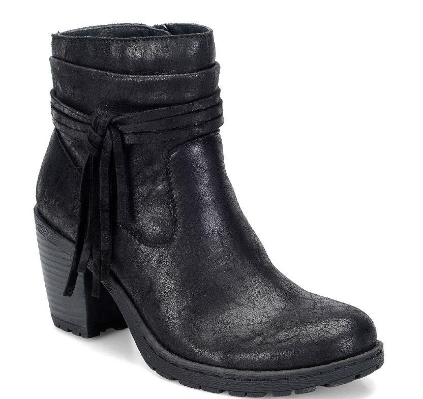 NEW BORN B.O.C ALICUDI BLACK ANKLE BOOTS WOMENS 8.5 Z25509 BOOTIES W/ TASSEL