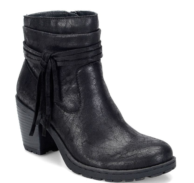 Select Size NEW $140 Born BOC Amber Black Suede Ankle Boots Booties