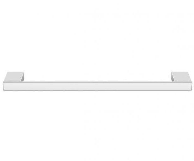 Milli EDGE SINGLE TOWEL RAIL Double Fixings CHROME- 300mm, 600mm Or 800mm