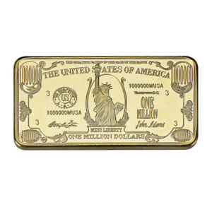 WR-American-1-Million-Dollar-1-OZ-Commemorative-24k-Gold-Bar-Big-Value-In-Case