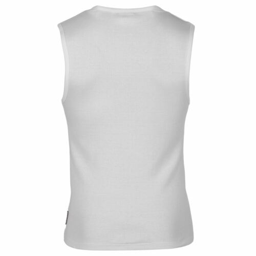New  Mens Lee Cooper Casual Summer Sleeveless Rib Vest Cotton Top Size S-3XL