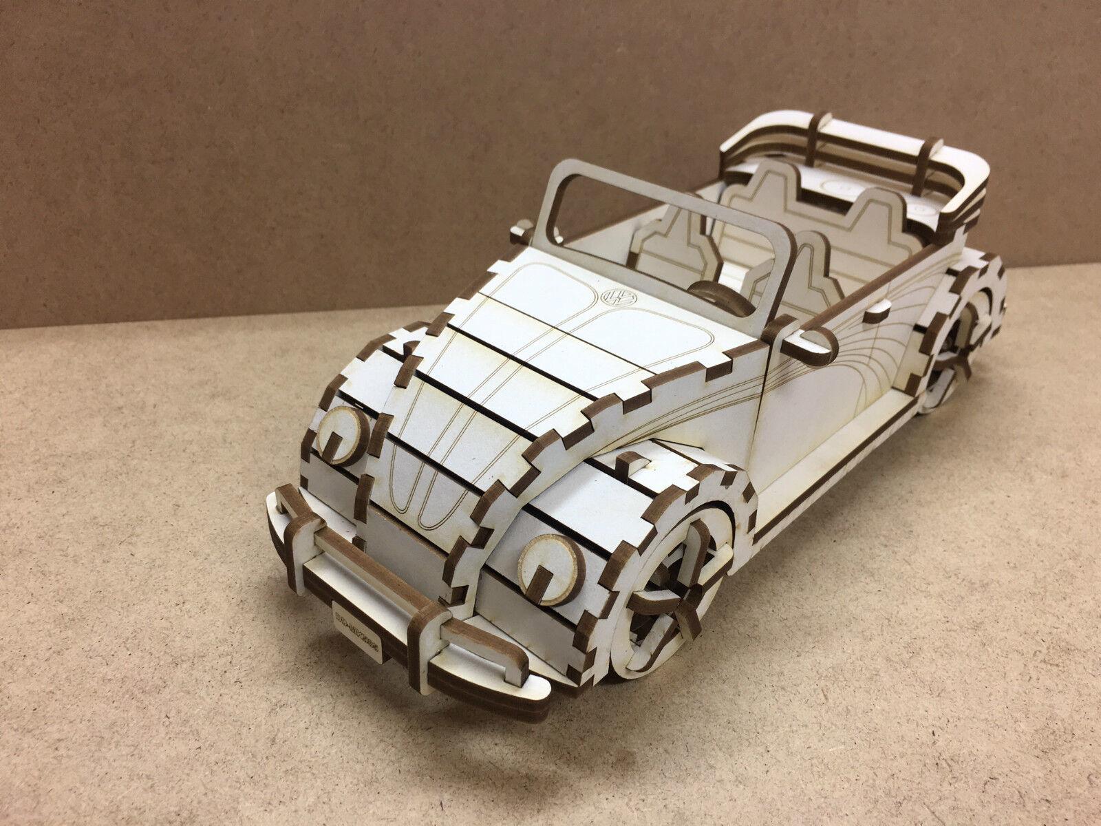 Modelo de coche VW ESCARABAJO 23 odr 30cm Puzzle Juego construcción Cabrio