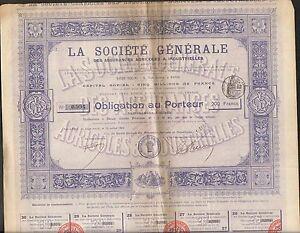 LA SOCIETE GENERALE, Assurances Agricoles & Industrielles (O)