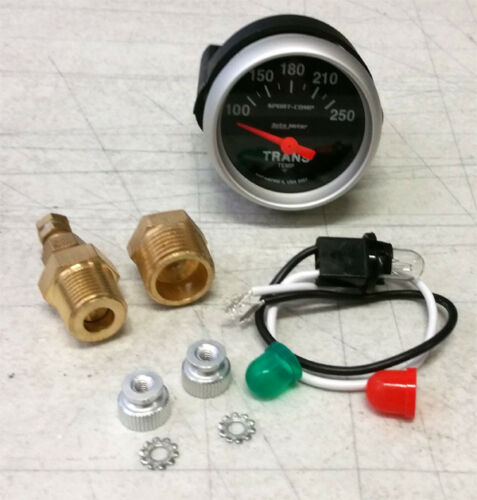 "SALE AutoMeter Sport-Comp Electrical Transmission Temperature Gauge 2-1//16/"" 52mm"