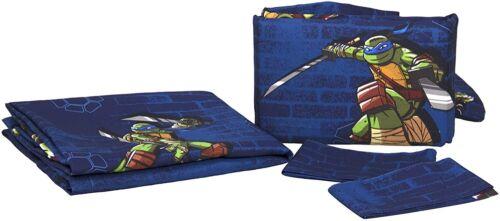 -Blue Nickelodeon Teenage Mutant Ninja Turtles Curtains 2 Panels, 2 Tiebacks