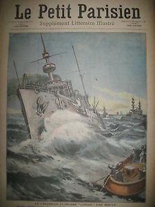 CROISEUR-CUIRASSe-CONDe-RUSSIE-GRAND-DUC-ALEXIS-JOURNAL-LE-PETIT-PARISIEN-1908