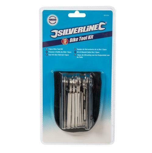 Silverline Bike Multi Tool 13 function Hex Maintenance /& Repair BMX Cylce Pocket