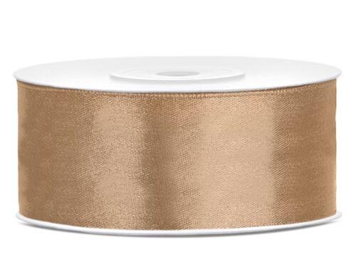 25mm//25m satén bucles de cinta banda dekoband boda banda regalo