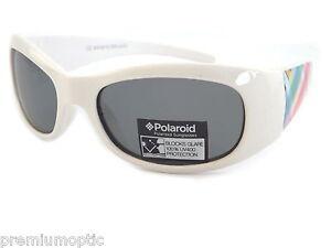 5c9a2dced263 Image is loading POLAROID-Kids-Polarized-Sunglasses -White-Patterned-Grey-B201-