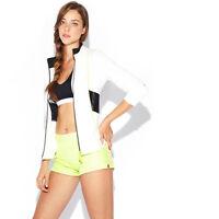 Spanner Off-white Seamed Knit Track Jacket, Medium Msrp $139