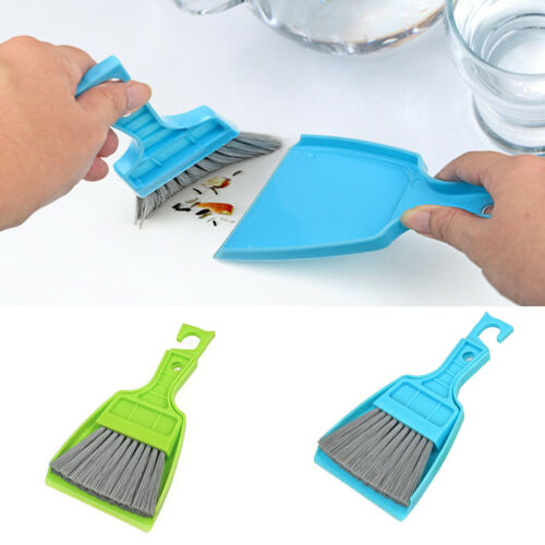 JQ/_ Mini Desktop Broom and Dustpan Set Household Dust Pan and Brush Cleaning T