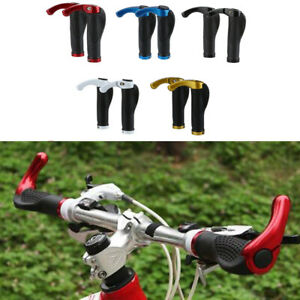 1-Paar-Gummi-Alu-Weiche-Fahrrad-Lenkergriffe-Handle-Bar-Ends-Lenker-Lenkerenden