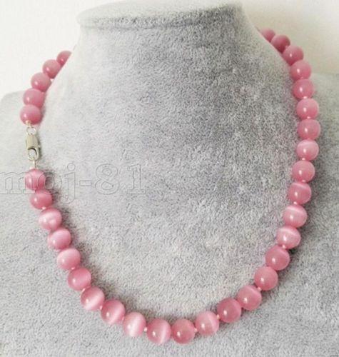 "Fashion Women/'s 10 Mm Naturel Rose Opal Gemstone Round Beads Necklace 18/"" AAA"