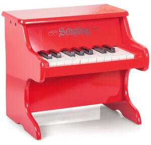 Enfants Musical Instrument Mini Piano Rouge 18 Clés Premium Jouet En Bois Pour