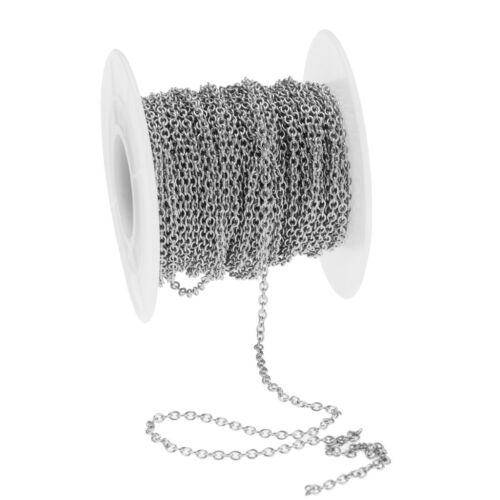 Rollo de 13yd Cable De Acero Inoxidable de desplazamiento Cadena Collar Pulsera conclusiones para