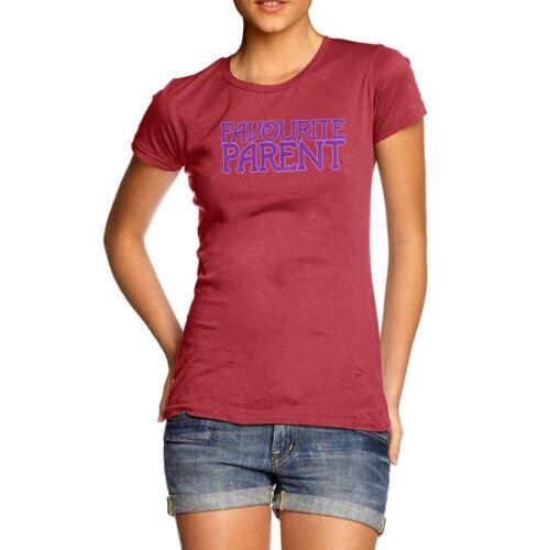 Novelty Graphic Sarcasme Drôle T Shirt Favori Parent T-shirt femme