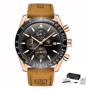 Orologio-di-Lusso-da-Uomo-d-039-Affari-al-Quarzo-in-Acciaio-Inox-impermeabile