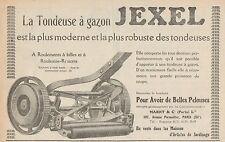 Y8997 Tondeuse à gazon JEXEL - Pubblicità d'epoca - 1926 Old advertising