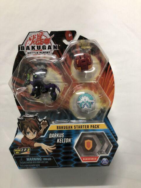 Bakugan Starter Pack 3-Pack Darkus Kelion Collectible Transforming Wave 7