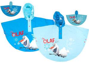 Disney-Frozen-Olaf-Hooded-Raincoat-Waterproof-Poncho-Rain-Coat-2-6-years