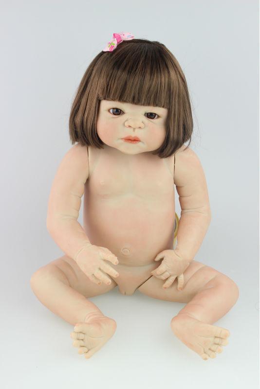 23  Full body Silicone vinyl Reborn Baby girl Dolls Lifelike Newborn Toys gifts