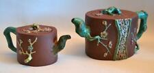 1920s Chinese Pair of Clay Tea Pots